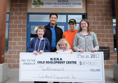 Woodland Equipment Inc.  donation to NONA Child Development Centre
