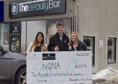 Beauty Bar donation to NONA Child Development Centre